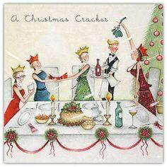 "Cards "" A Christmas Cracker "" - Berni Parker Designs ღ✟ Christmas Scenes, Christmas Quotes, Christmas Pictures, Christmas Art, Illustration Noel, Christmas Illustration, Illustrations, Whimsical Christmas, Vintage Christmas Cards"