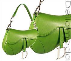 Christian Dior Handbags, Dior Handbag Green Saddle Bag (cd1523)