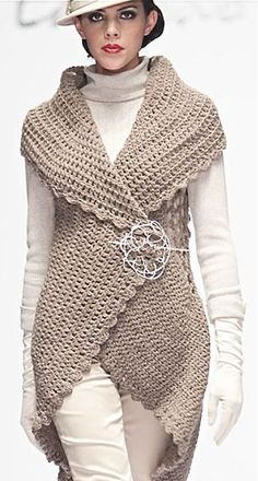 Image result for circular vest crochet pattern