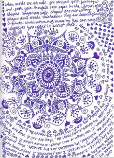 also a journal page....great observations about the art of doodling