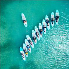 Paddle Board Yoga in Aruba.