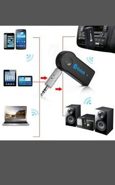 Wireless Bluetooth 3.5mm AUX Audio Stereo