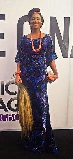 Genevieve Nnaji in traditional attire at Africa Magic Igbo Launch