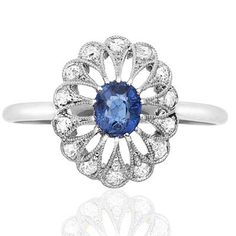 What a way to say 'I love you'. A spectacular antique engagement ring.  http://www.helenbadge.com
