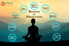 """""""The thing about meditation is: You become more and more you."""" – David Lynch #Health Benefits of Meditation via @ekamyogashala  #benefits #meditation #calmmind #quite #heart #positivethoughts #loveyourself #selfawareness #conciousness #concentration"""