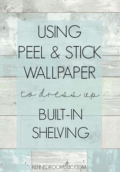 Looking for ways to dress up the back of your bookshelf? Check out these fabulous peel & stick wallpaper options via Refined Rooms Bookshelf Makeover, Bookshelf Styling, Bookshelves Built In, Built Ins, Bookshelf Decorating, Bookshelf Ideas, Stick On Wallpaper, Diy Wallpaper, Bathroom Wallpaper