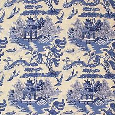 2004031.51 Willow Pattern Blue On by Lee Jofa by christy
