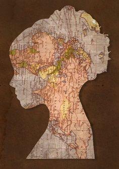 Harita ve Atlas ile Ev Dekoru Süslemesi (24)