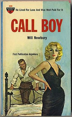 Call Boy, Funny Vintage Pulp Book Cover, by Will Newbury.