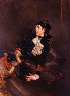 1878-1879 Countess Gabrielle de Rasty on a sofa by Giovanni Boldini (private collection) Athenaeum despot