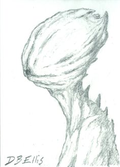 Alien Portrait No. 2     original sci fi art ACEO by dbellis, $4.00