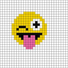 Pixel Wink Emoji by Mewmew_furrkyou on Kandi Patterns