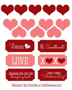 Free Valentine Printables and Candy Jar | The 36th AVENUE