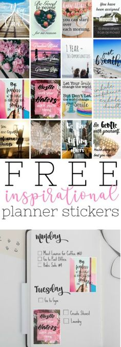 Free Printable Inspirational Stickers for Your Planner or Bullet Journal