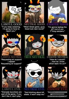 I'm mostly like Terezi Dave and Karkat<== Pffff, are you kidding? Karkat's my favorite.