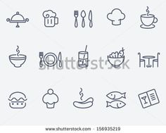 Restaurant icon set - stock vector
