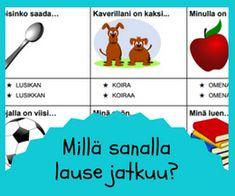 Puhe ja kieli Finnish Language, Daily Five, Vocabulary, Teaching, Map, School, Peda, Location Map, Education