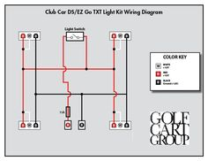 fc9bb717d8510673231eb65001c918ac electric golf cart car lights electric ezgo golf cart wiring diagrams golf cart pinterest 1989 club car wiring diagram at edmiracle.co