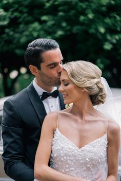Alyssa and Martin's stunning old Hollywood style wedding at Jasper's, Berry. Alyssa wears the KWH by KAREN WILLIS HOLMES 'Anya' gown with 'Genevieve' overlay. Captured by Evoke Photography
