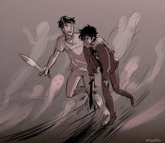 Percy and Nico from Percy Jackson and the Olympians The Last Olympian