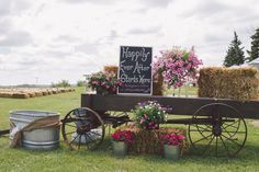 Family Farm Wedding in Pink and Gray