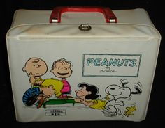Peanuts lunchbox and thermos..My very first lunchbox..still at my mom's!