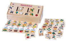 GoGo Match and Sort Wooden Game Set