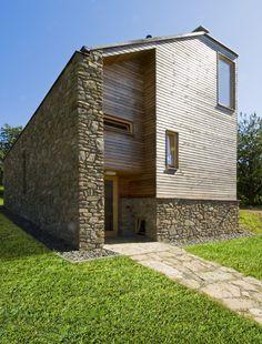 fasada kamen drevo plocha strecha - Google Search