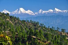 A view of mountains from Dadeldhura, Nepal  www.riverholidaysnepal.com