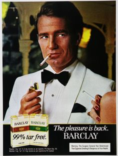 Vintage Tobacco/ Cigarette Ads of the 1980s