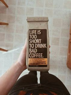 "gentlemanstravels: ""Life is too short to drink bad coffee "" My Coffee Shop, Coffee Is Life, Coffee Love, Coffee Break, Coffee Humor, Coffee Quotes, Italian Roast Coffee, Uses For Coffee Grounds, Premium Coffee"
