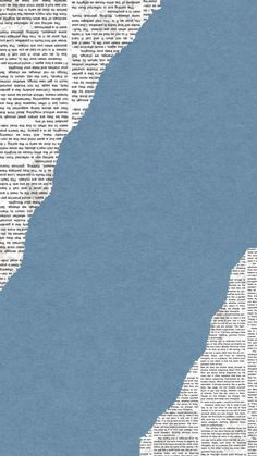 Wallpaper pastel blue newspaper aesthetic