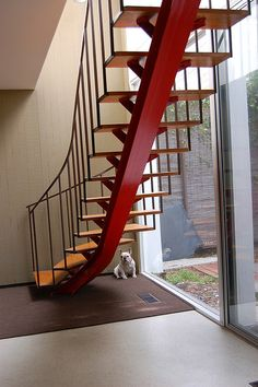 Another great stairs idea. Need to find some I-beam...