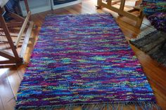 If I could weave, I'd make rugs like this one. It's made from socks! I have two that I love made from old jeans.