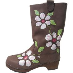 Brown Oil Boot Zoe Clog Boots, Rubber Rain Boots, Cowboy Boots, Clogs, Wedges, Brown, Oil, Fashion, Moda