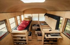DIY Camper Ideas Space Saving and Become Better Camping Trailers; DIY Camper Van, Camping Trailers or RV Hacks Remodel and Makeover is a good choice to make it better camping trailers. Vida No Trailer, Trailer Casa, School Bus House, Old School Bus, Bus Living, Living In A Caravan, School Bus Conversion, Camper Conversion, Mobile Living