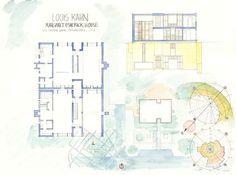 Margaret Esherick House Drawing