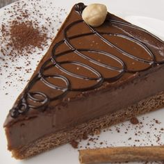 This chocolate fudge cheesecake recipe is made on a crunchy vanilla-cocoa wafer crust.