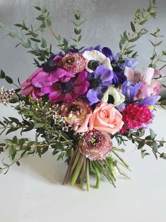 My Flower, Pretty Flowers, Flower Power, Beautiful Bouquets, Anemone Bouquet, Garden Plants, Peonies, Flower Arrangements, Deco
