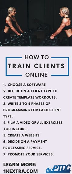 How to train clients online - personal training - ThePTDC.com