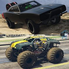 Big Wheel, Gta, Monster Trucks, Battle, Vehicles, Instagram, Ferris Wheel, Car, Vehicle