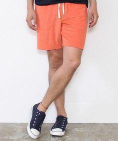 coen MENS カラーパイルサーフショーツ(パンツ)|オレンジ ¥2,052税込
