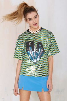 Funny Business Sequin Top