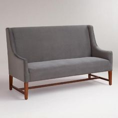 Inspired by the classic design of mid-century furniture, our Concrete Hayden Dining Banquette features a streamlined silhouette and ultra-comfortable feel. Banquette Bench, Kitchen Banquette, Dining Bench, Dining Room Design, Dining Room Chairs, Dining Decor, Dining Sets, Dining Area, Dining Corner