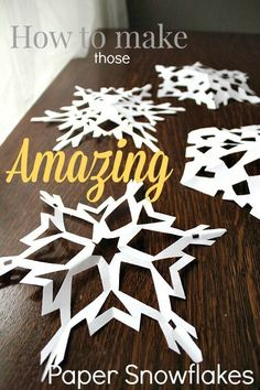 Paper snowflakes are