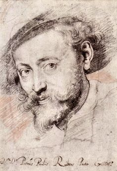 Peter Paul Rubens Drawings | Self-portrait reproduction oil painting