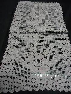 caminhos de mesa em croche com graficos - Pesquisa Google