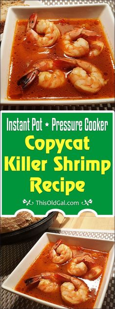 Pressure Cooker Copycat Killer Shrimp Recipe is so flavorful and you can have it on your table in under one hour. via @thisoldgalcooks