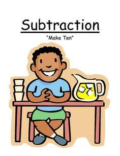 "Fern Smith's Math Center Game ~ Subtraction ""Make Ten"" Concept"