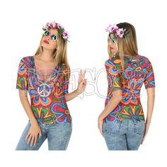 Disfraz camiseta 3 D Hippie para mujer - Dresoop.es